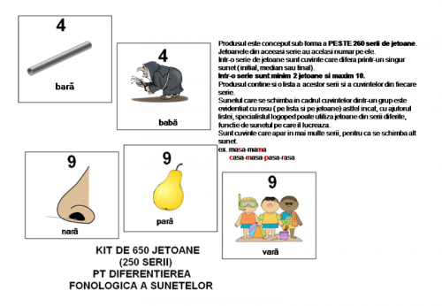 kit logopedic pt diferentiere fonologica